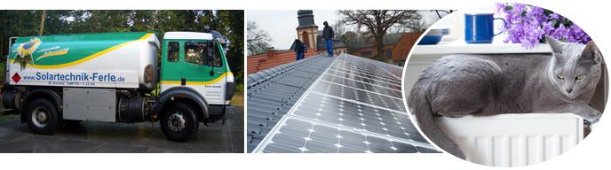 Ferle GmbH - Geschäftsbereiche - Solartechnik - Heizungsanlagen - Bäder