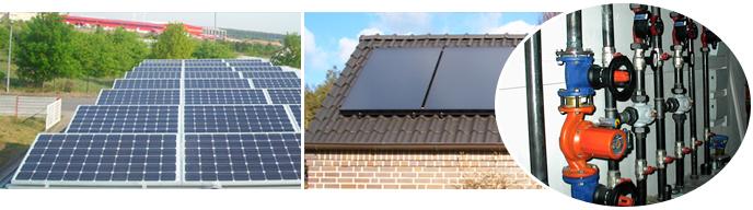 Ferle GmbH - Referenzen aus dem Bereich Solaranlagen, Heizungsanlagen und Badinstallationen.